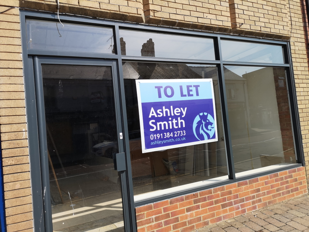 Example of a shop unit available in Chester-le-Street. Photograph by Graham Soult