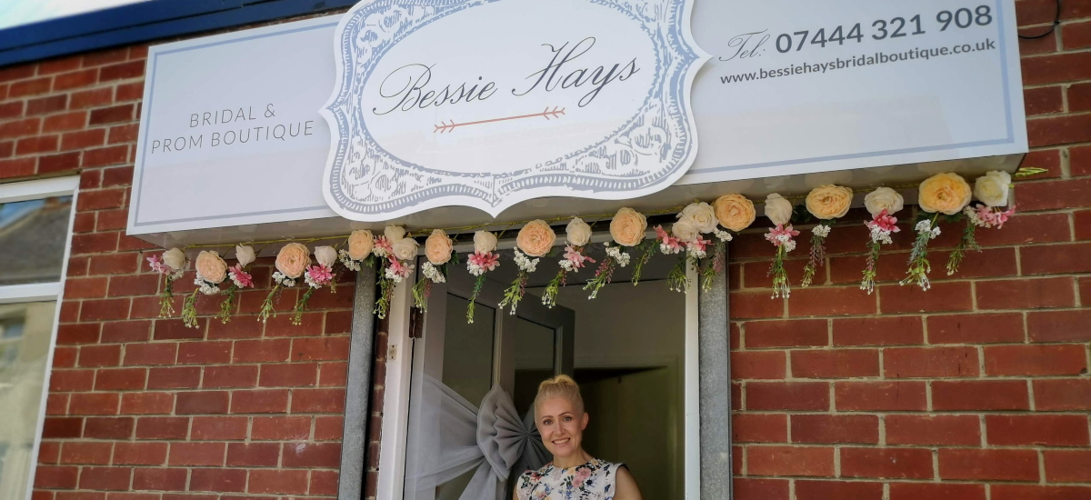 Julie at Bessie Hays Bridal Boutique in Chester-le-Street. Photograph by Graham Soult