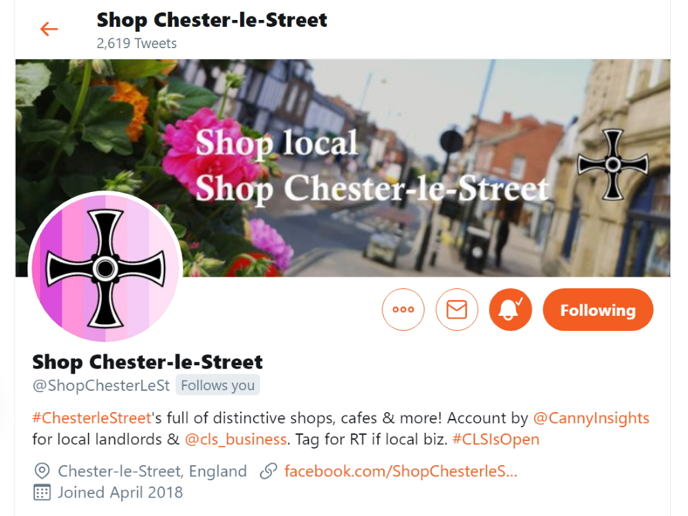 Shop Chester-le-Street on Twitter