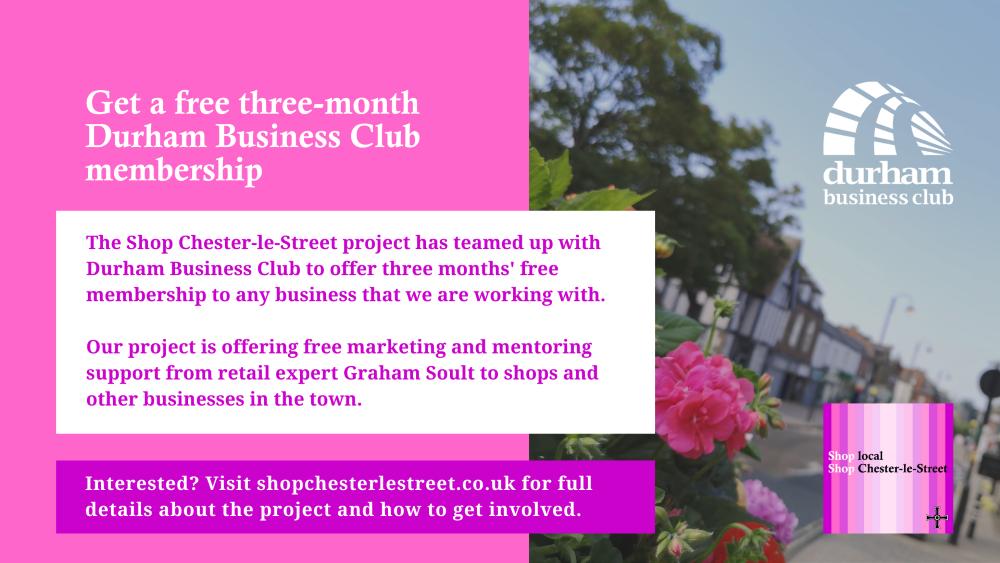 Get three months' free membership of Durham Business Club
